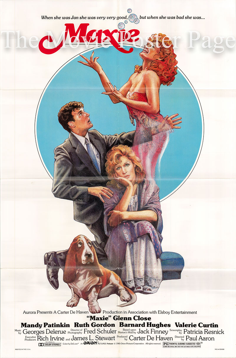 Pictured is a US one-sheet poster for the 1975 Paul Aaron film Maxie starring Glenn Close.