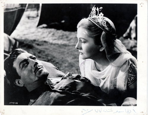 Pictured is a US promotional still photo from the 1952 Richard Thorpe film Ivanhoe starring Robert Taylor.