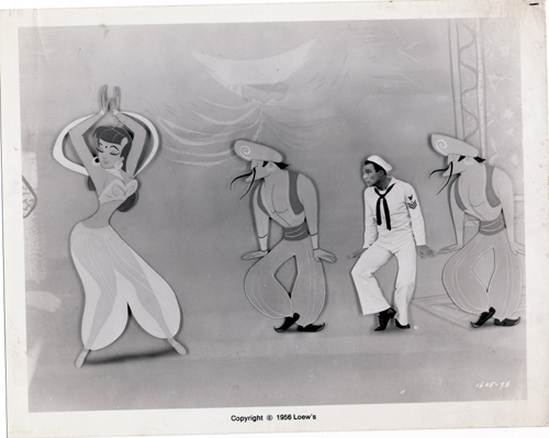 Pictured is a US promotional still photo from the 1956 Gene Kelly film Invitation to the Dance starring Gene Kelly.