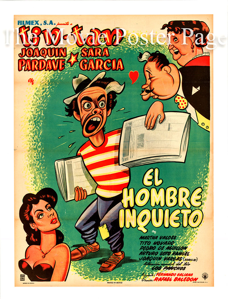 This is a Mexican poster for the 1953 Rafael Baledon film Tin Tan: El Hombre Inquito starring Joaquin Pardave as Don Raful Sayeh.