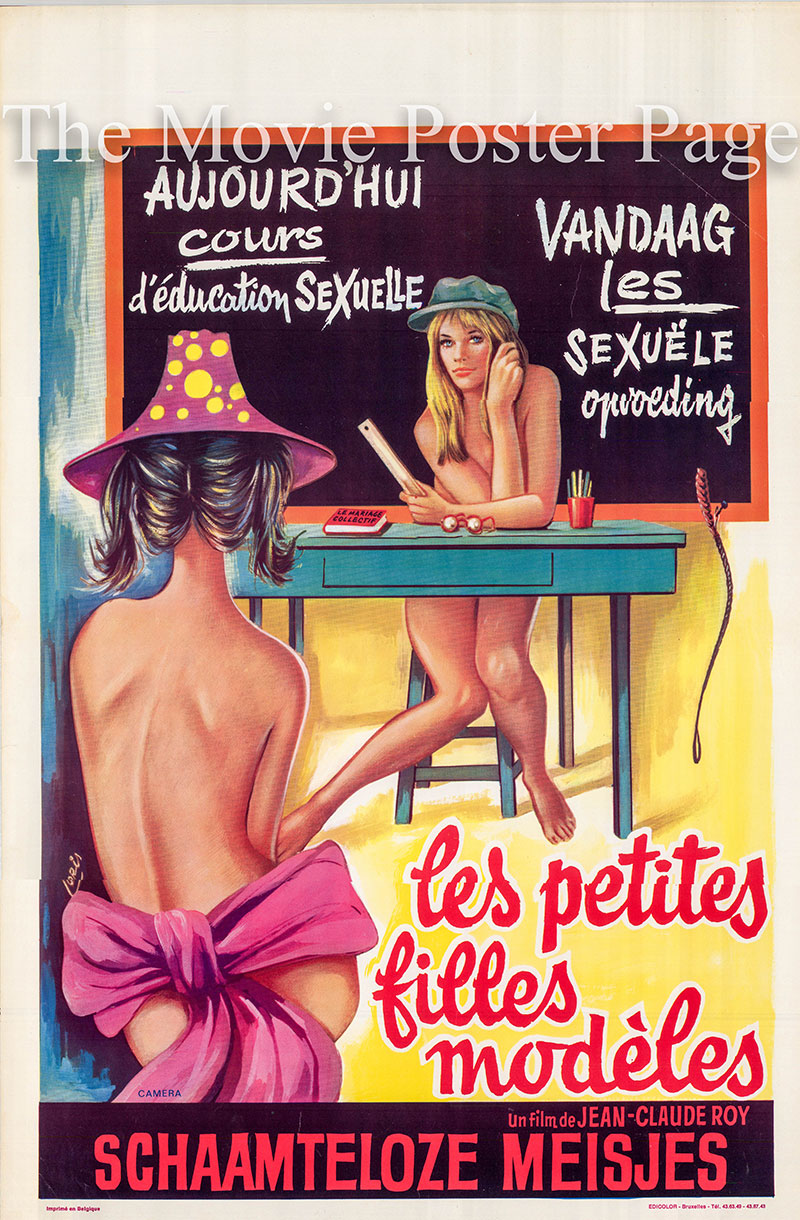 Pictured is a Beligan poster for the 1970 Jean-Claude Roy film Good Little Girls starring Jessica Dorn as Madeleine de Fleurville.