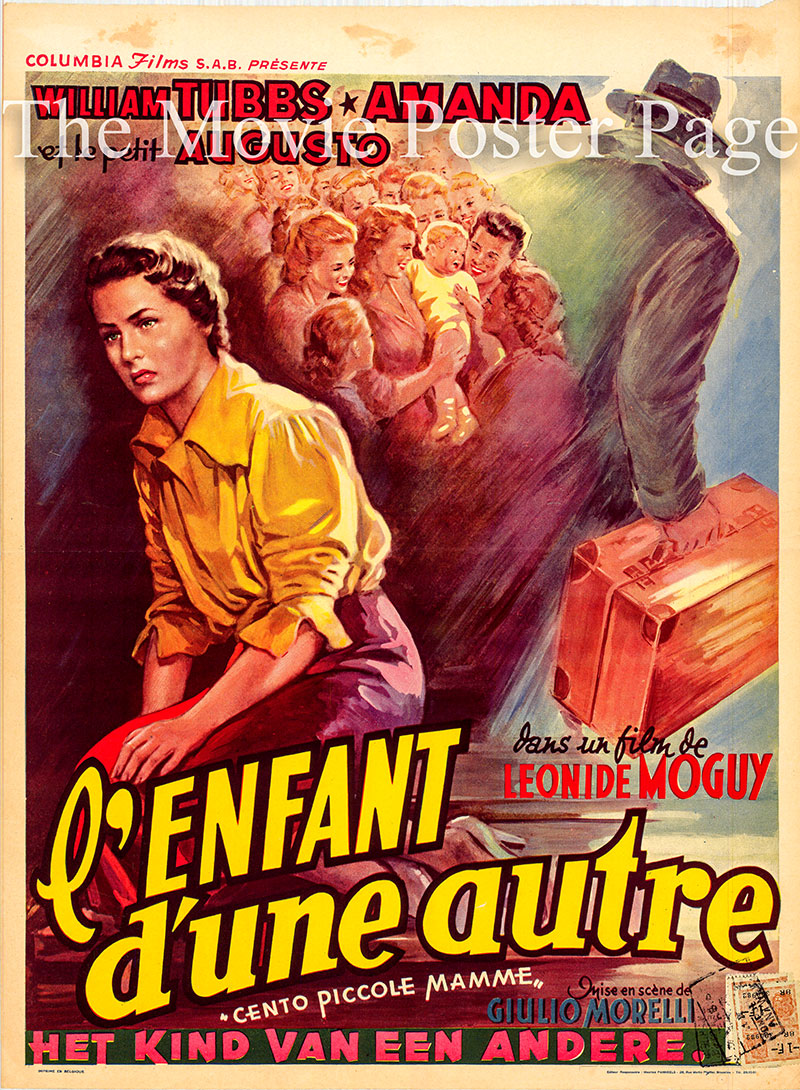 Pictured is a Belgian poster for the 1952 Giulio Morelli film One Hundred Little Mothers starring William Tubbs as Professor Martino Prosperi.