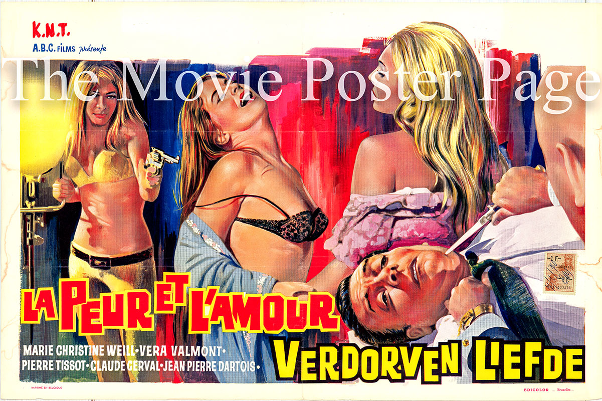 Pictured is a Belgian poster for the 1967 Mac Pecas film Torment starring Claude Cerval as Louie Ricco.