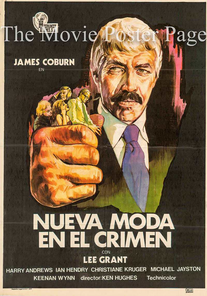 Pictured is a Spanish one-sheet poster for the 1974 Ken Hughes film Internicine Project starring James Coburn.