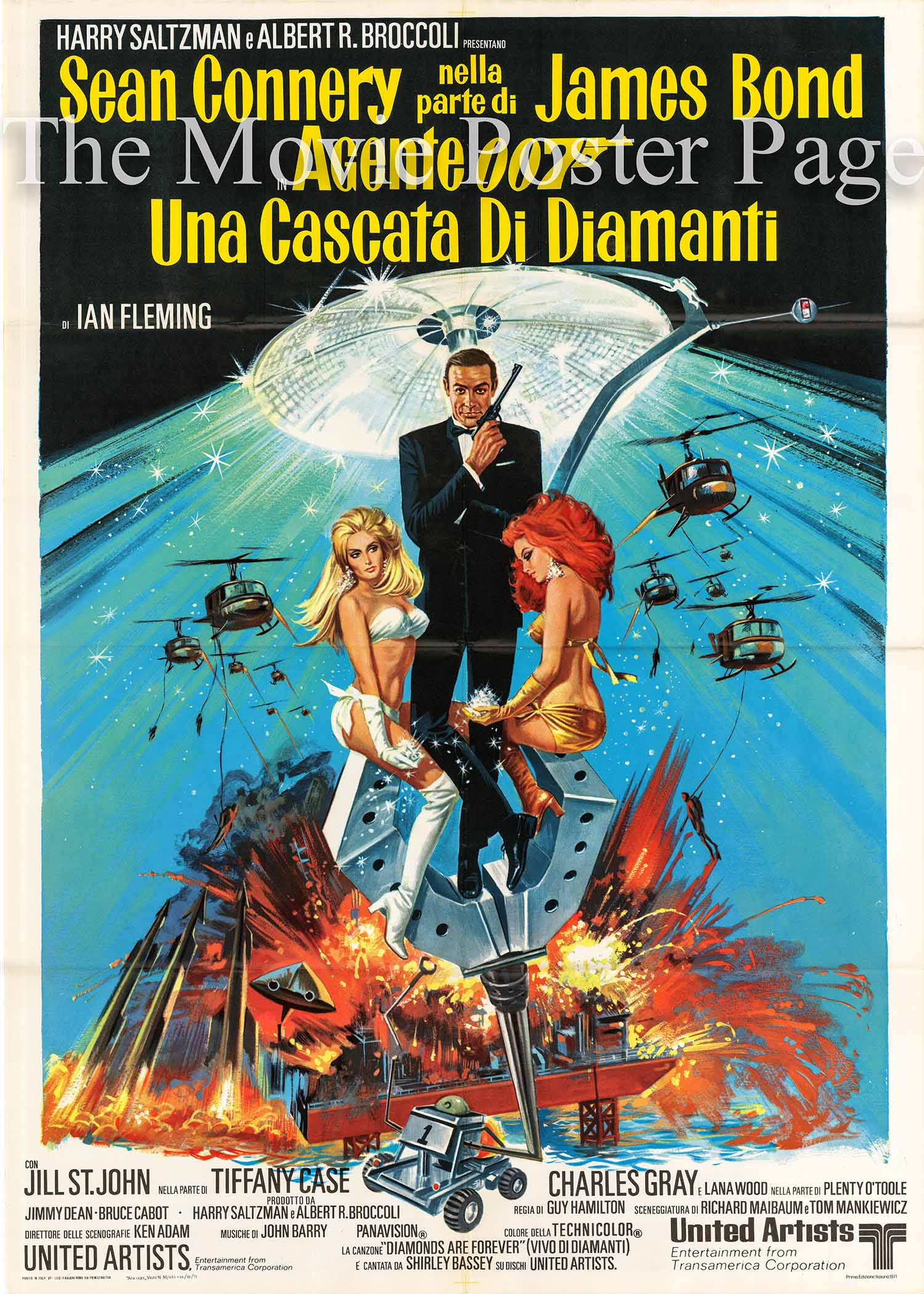 Pictured here is an Italian 2-sheet poster made to promote the 1971 Guy Hamilton film Diamonds are Forever starring Sean Connery.