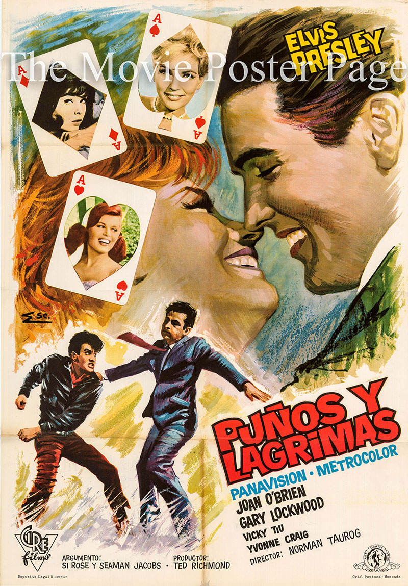 Pictured is a Spanish one-sheet poster for a 1967 rerelease of the 1963 Norman Taurog film It Happened at the World's Fair starring Elvis Presley.