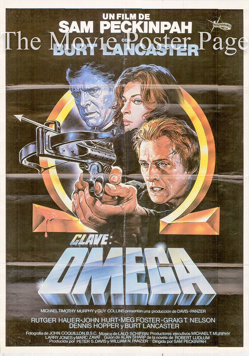 Pictured is a Spanish one-sheet poster for the 1983 Sam Peckinpah film The Osterman Weekend, starring Rutger Hauer as John Tanner.