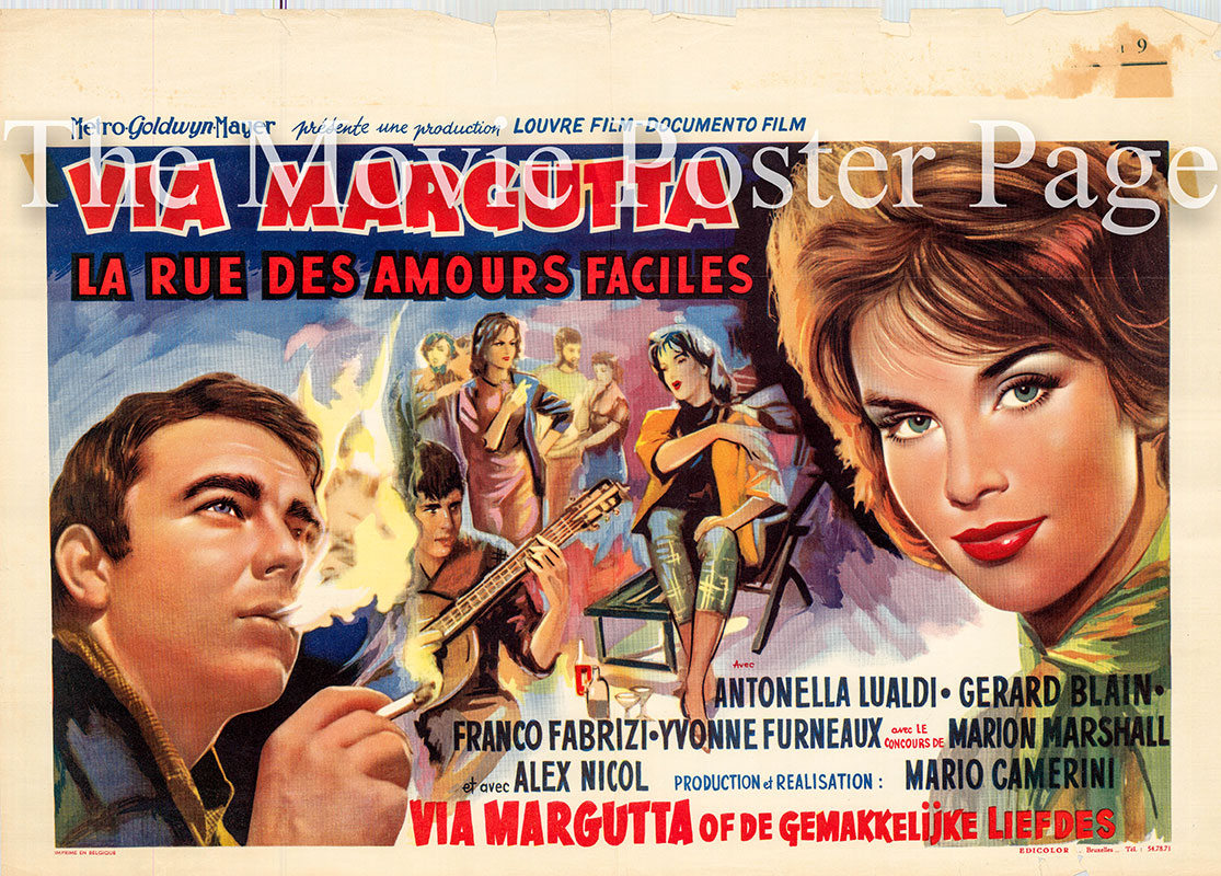 Pictured is a Belgian poster for the 1960 Mario Camerini film Run with the Devil starring Antolella Lualdi as Donata.