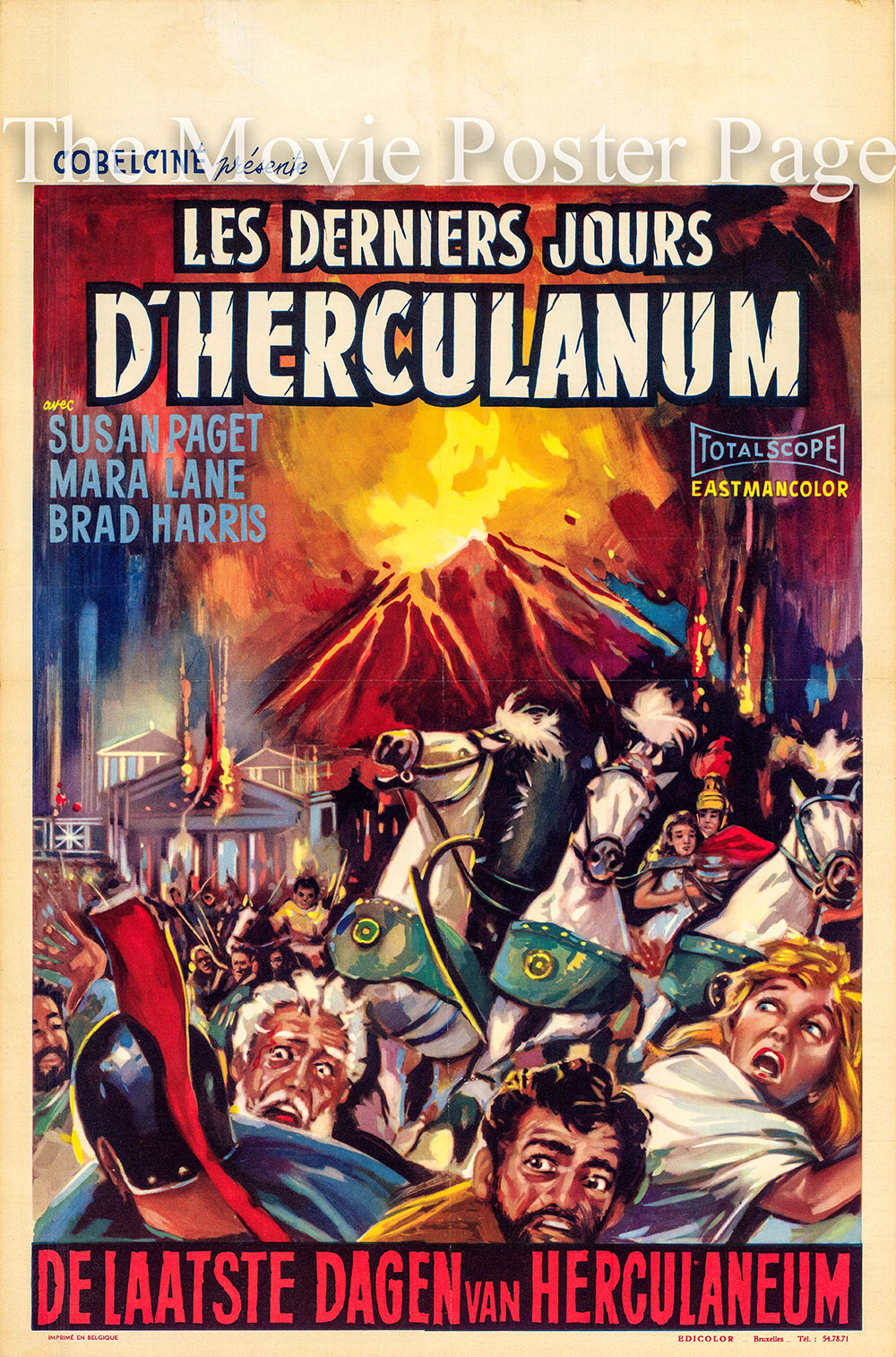 Pictured is a Beligian poster for the 1962 Gianfranco Parolini film The Destruction of Herculaneum starring Susan Paget as Livia