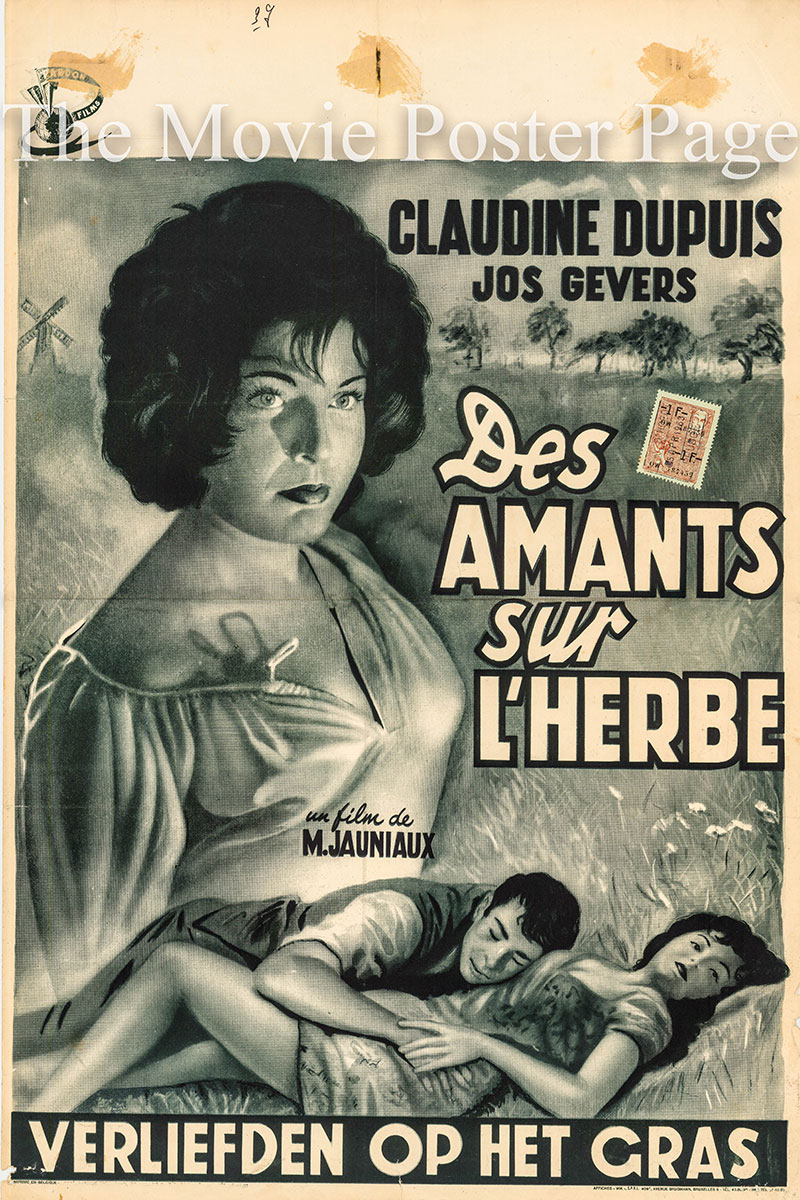 Pictured is a Belgian promotional poster for the 1949 Marcel Jauniaux film La Maudite starring Claudine Dupuis as Laura.