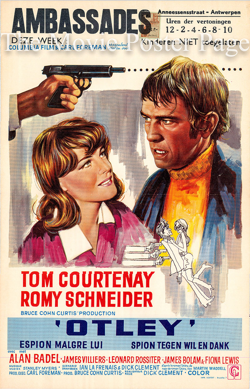 Pictured is a Belgian promotional poster for the 1969 Dick Clement film Otley starring Tom Courtenay.
