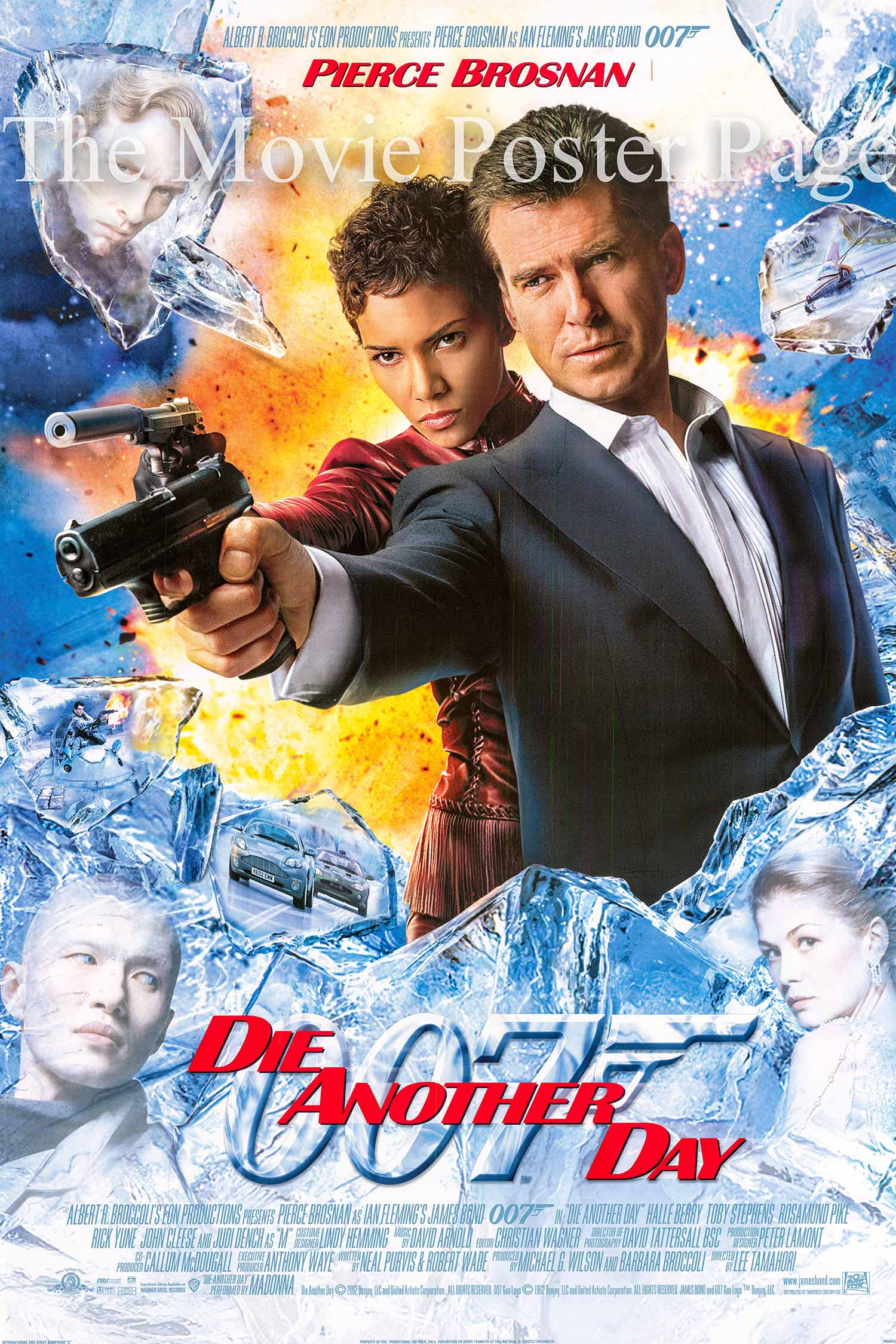 Pictured is an international one-sheet poster made to promote the 2002 Lee Tamahori film Die another Day starring Pierce Brosnan as James Bond.