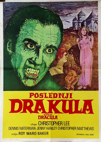 This the Yugoslavian poster for the 1971 film Scars of Dracula.