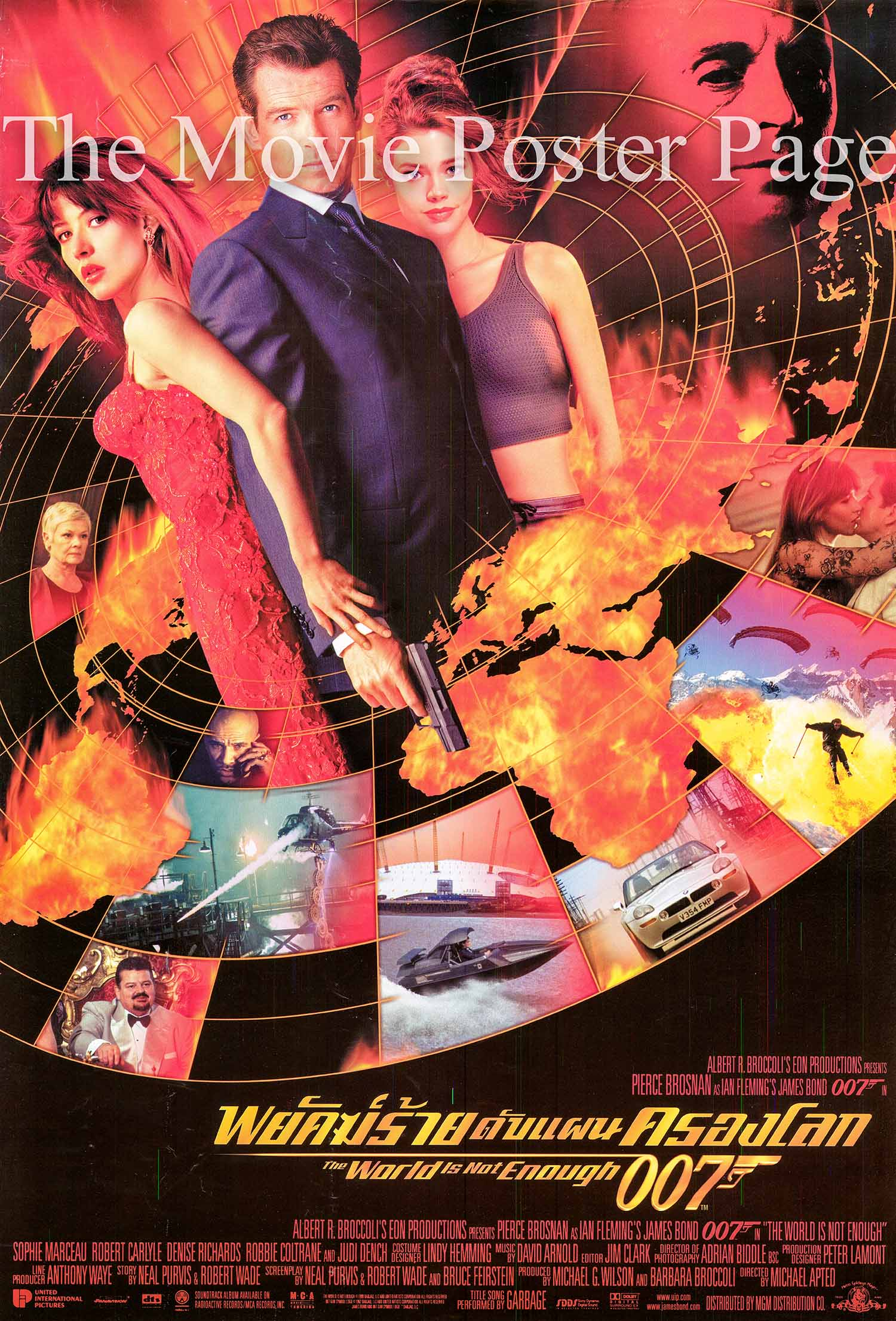 Pictured is a Thai promotional poster for the 1999 Michael Apted film The World is Not Enough starring Pierce Brosnan as James Bond.