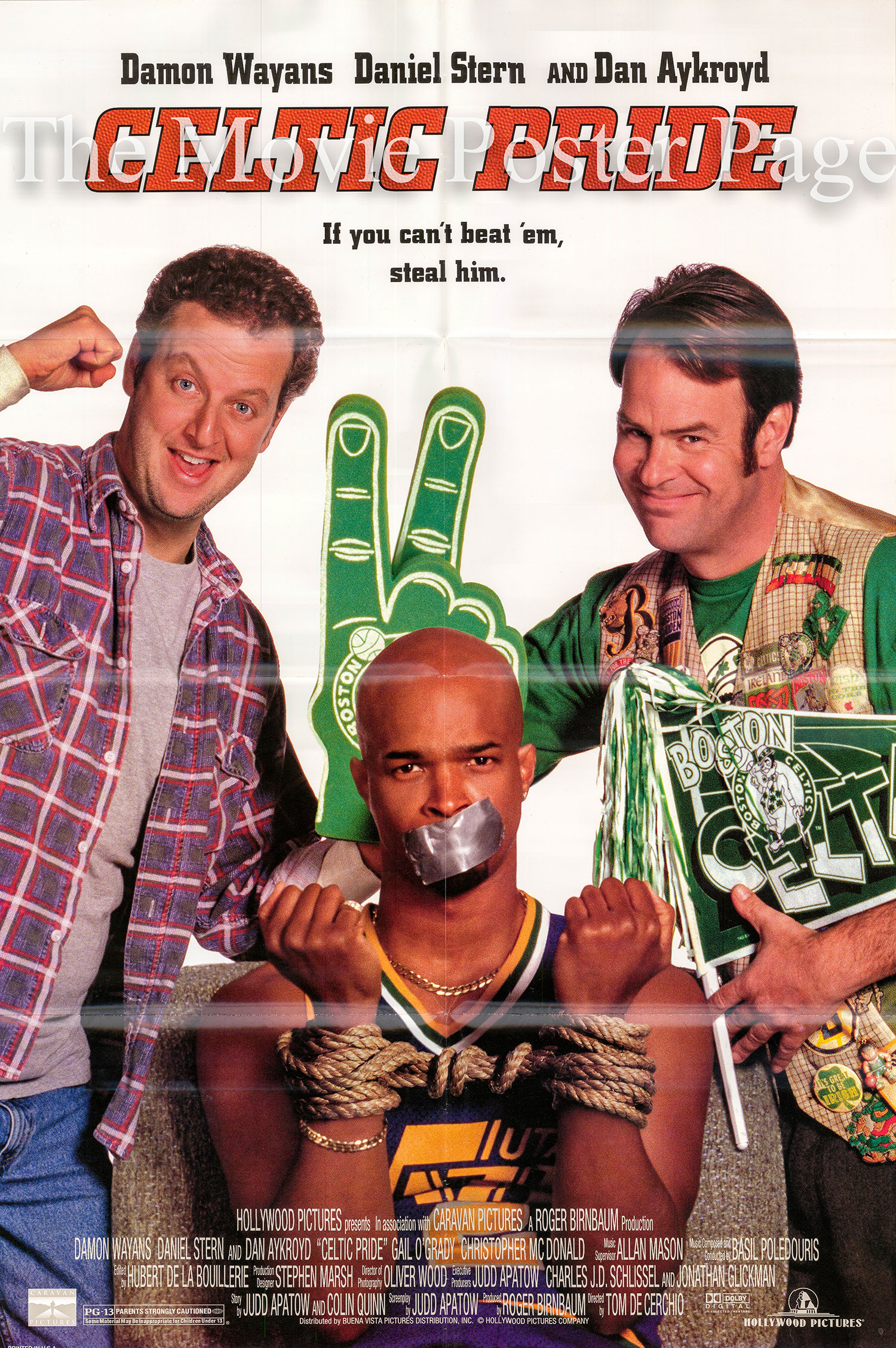 Pictured is a US promotional poster for the 1996 Tom De Cerchio film Celtic Pride starring Damon Wayans.
