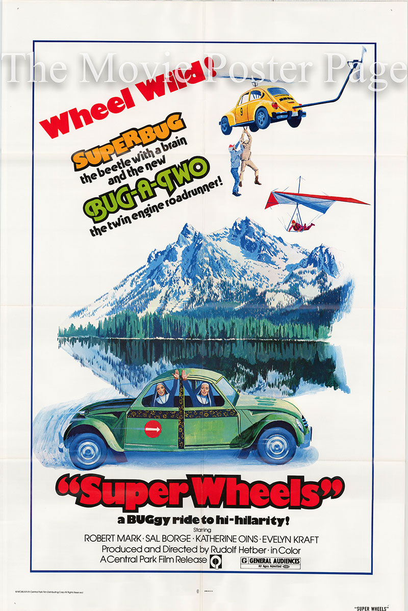 Pictured is a US one-sheet poster for the 1973 Rudolf Zehetgruber film Super Wheels starring Robert Mark as Jimmy Bondi.