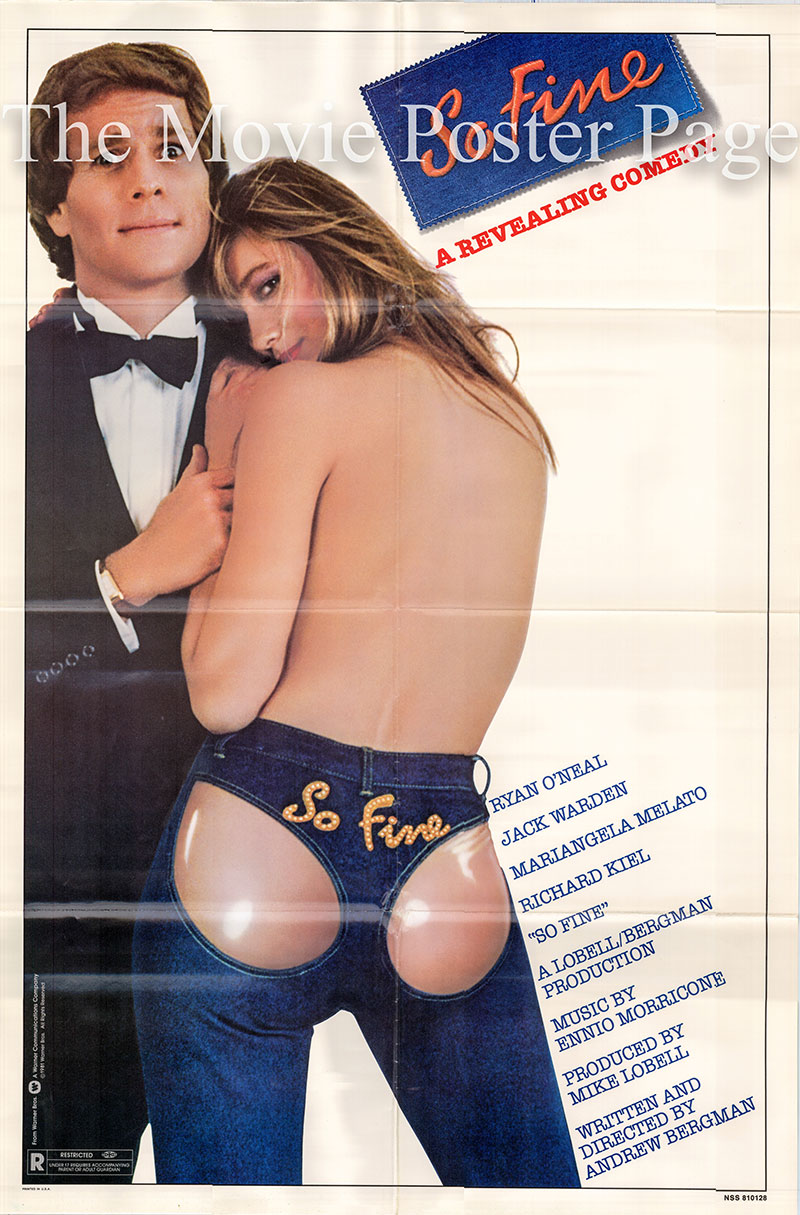 Pictured is a US one-sheet poster for the 1981 Andrew Bergman film So Fine starring Ryan O'Neal.