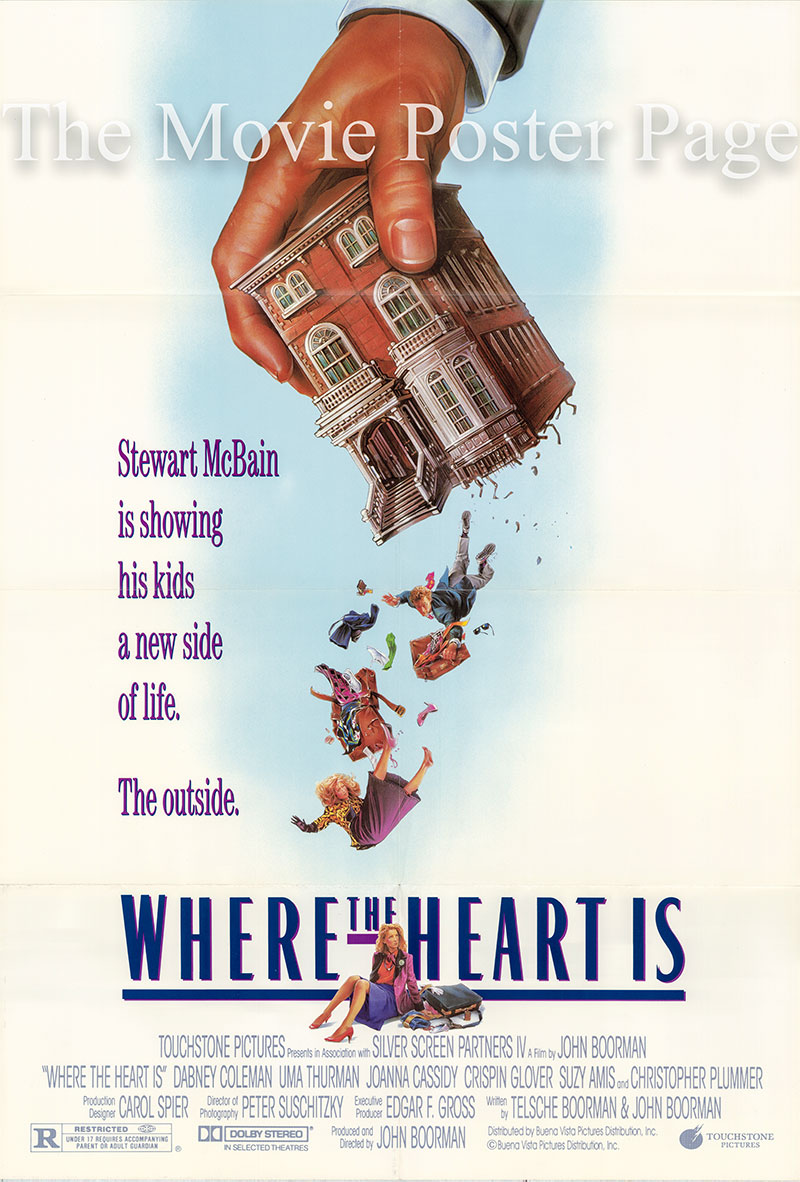 Pictured is a US one-sheet poster for the 2000 Matt Williams film Where the Heart is starring Natalie Portman as Novalee Nation.