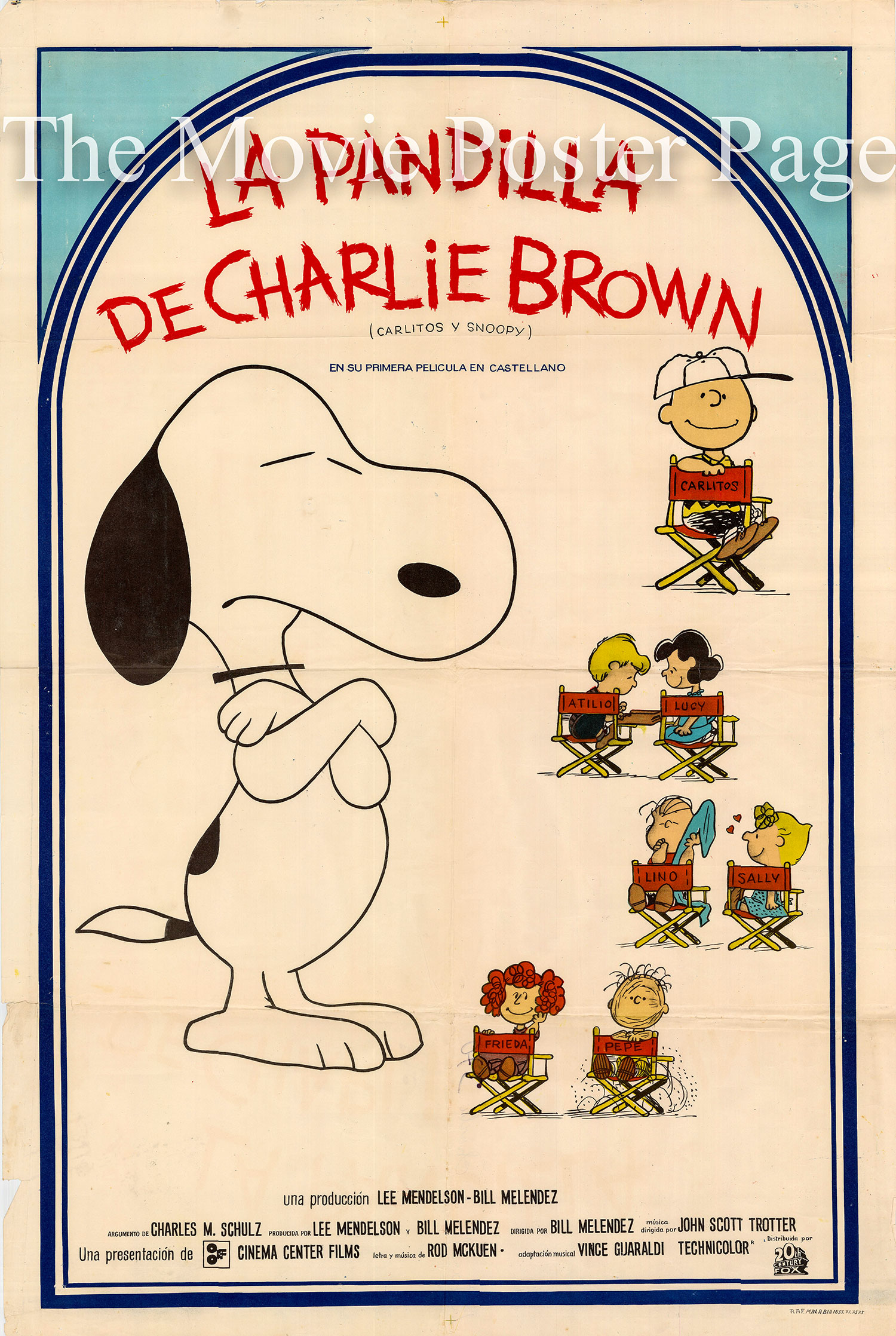 Pictured is an Argentine one-sheet for the 1969 Bill Melendez film A Boy Named Charlie Brown, starring Peter Robbins as the voice of Charlie Brown.