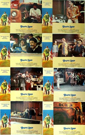 Pictured is a US lobby card set for the 1981 Oz Scott and Michael Schultz film Bustin' Loose starring Richard Pryor.
