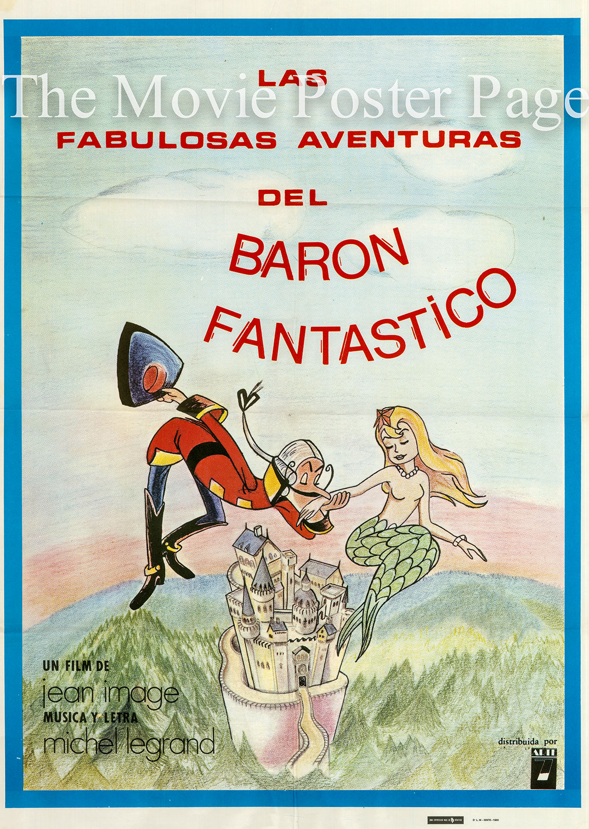 Pictured is a Spanish one-sheet poster for the 1979 Jean Image film Las Fabuleuses aventures du legendaire Baron de Munchausen.