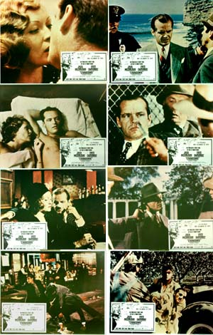 Pictured is a Spanish lobby card set for the 1974 Roman Polanski film Chinatown starring Jack Nicholson.