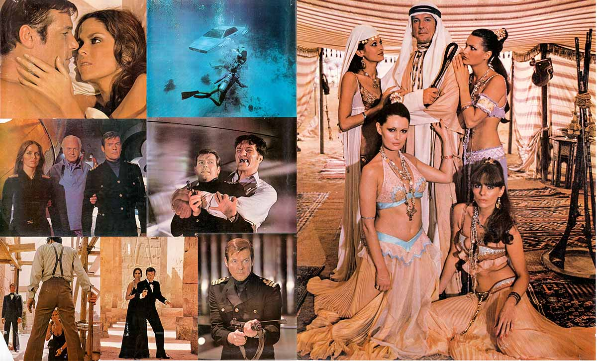 Pictured are eight 16x20 color stills from the 1974 Guy Hamilton film The Man with the Golden Gun starring Roger Moore as James Bond.