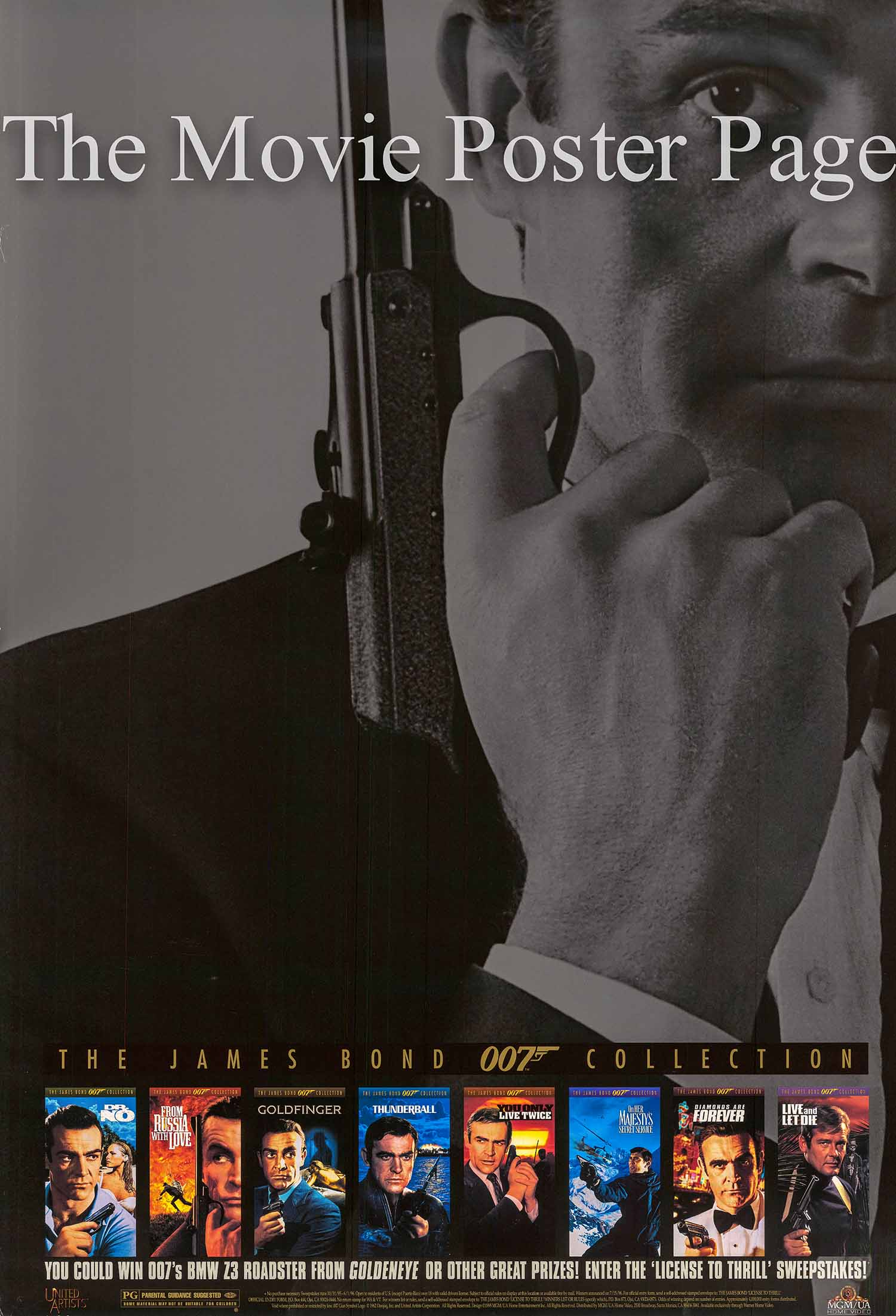 Pictured is a video poster for a collection of James Bond films starring Sean Connery.