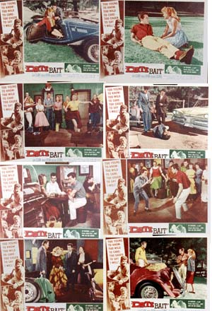 Pictured is a US lobby card set for the 1960 O'Dale Ireland film Date Bate starring Gary Clarke as Danny Logan.