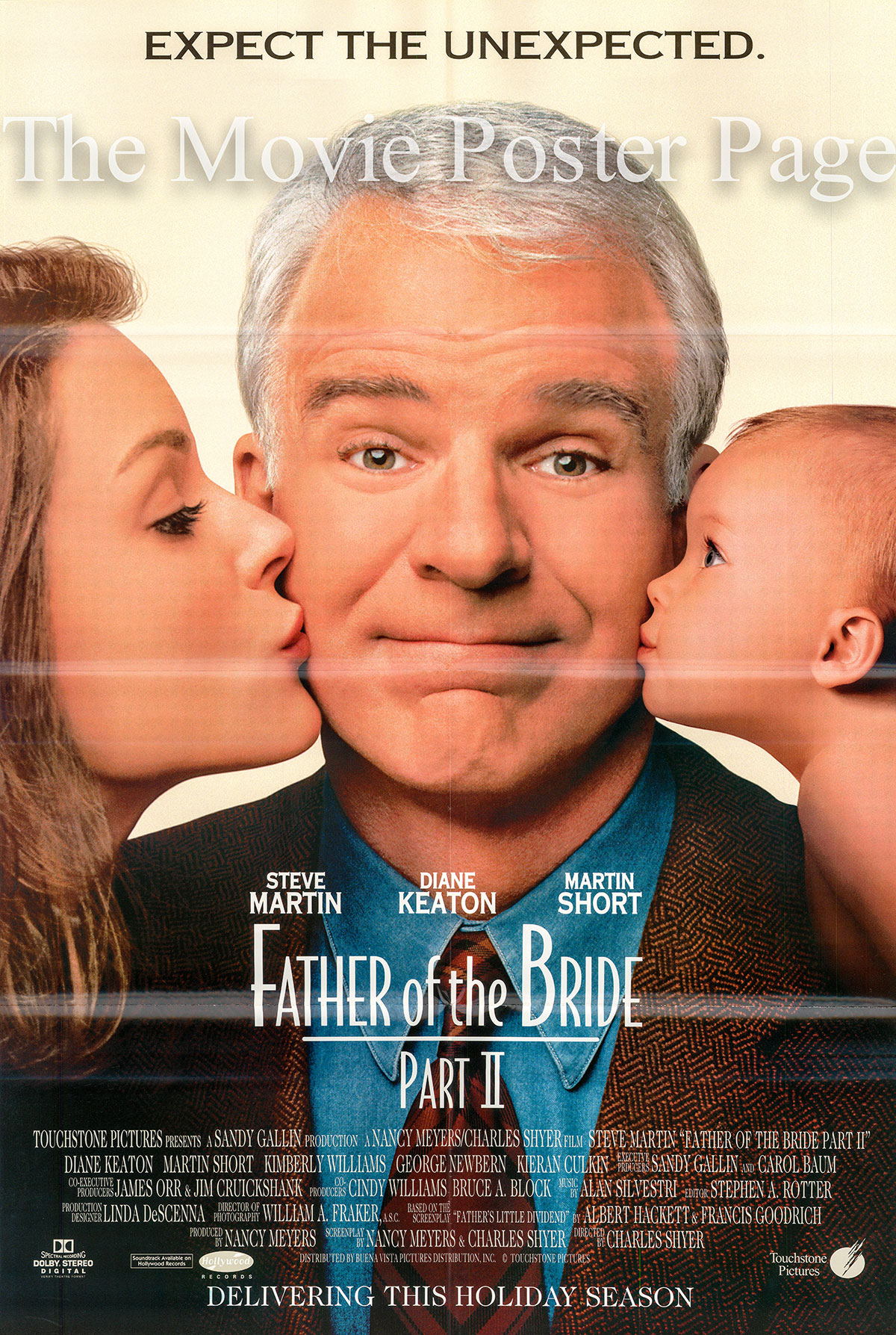 Pictured is a US one-sheet for t995 Charles Shyer film Father of the Bride Part II starring Steve Martin as George Banks.