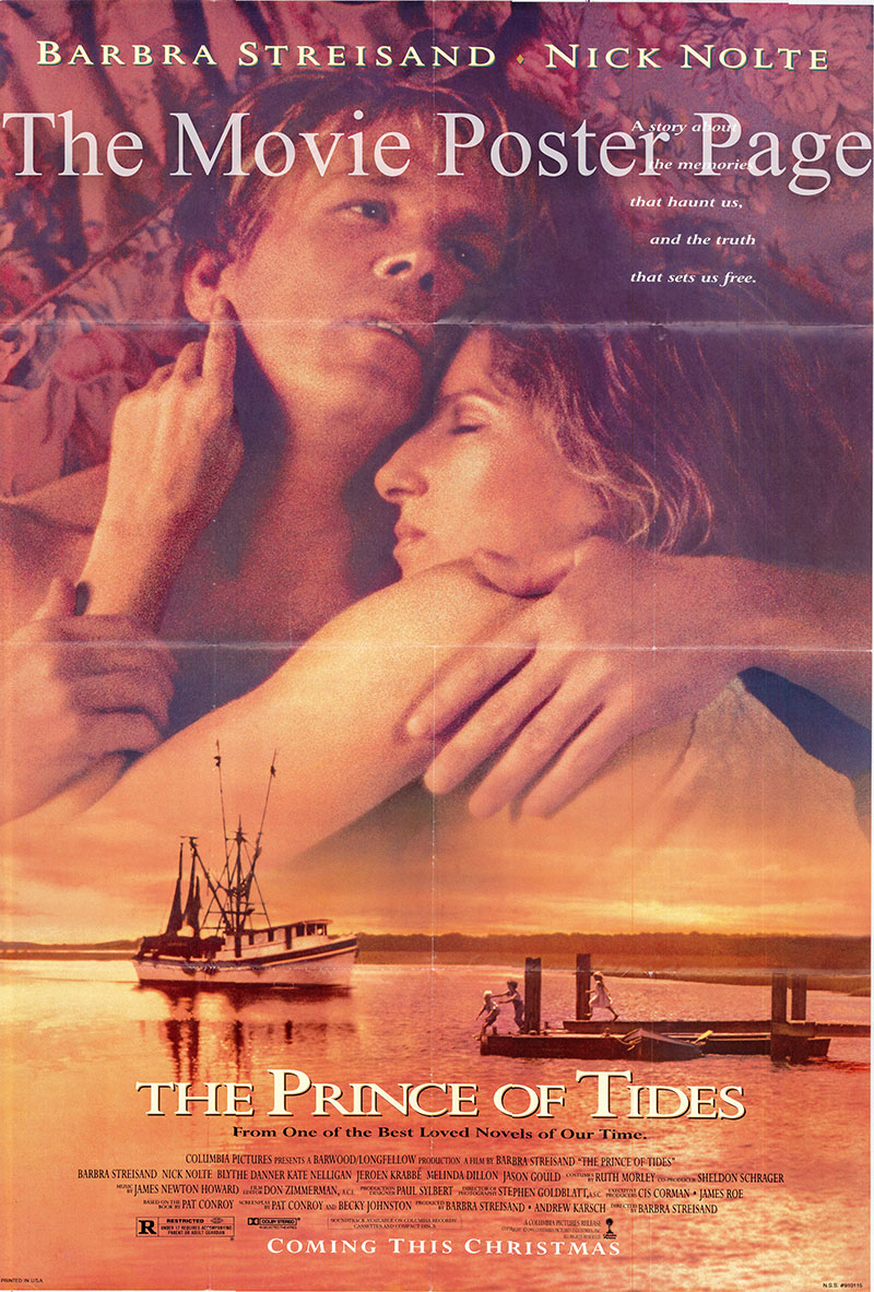 Picture is a US one-sheet poster for the 2003 Barbra Streisand film Prince of Tides starring Barbra Streisand.