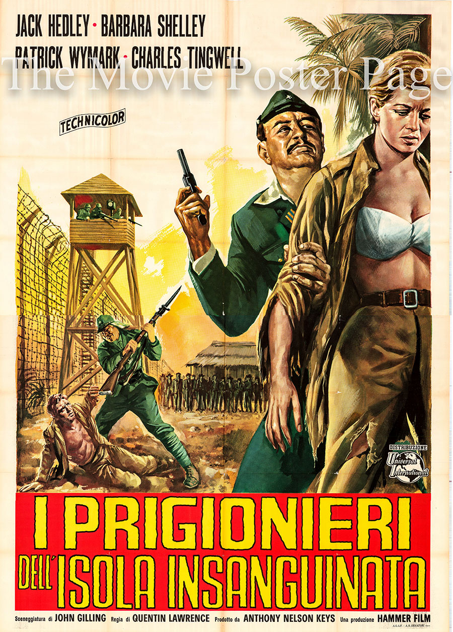 Pictured is an Italian four-sheet poster for the 1965 Quentin Lawrence film The Secret of Blood Island starring Jack Hedley as Crewe.