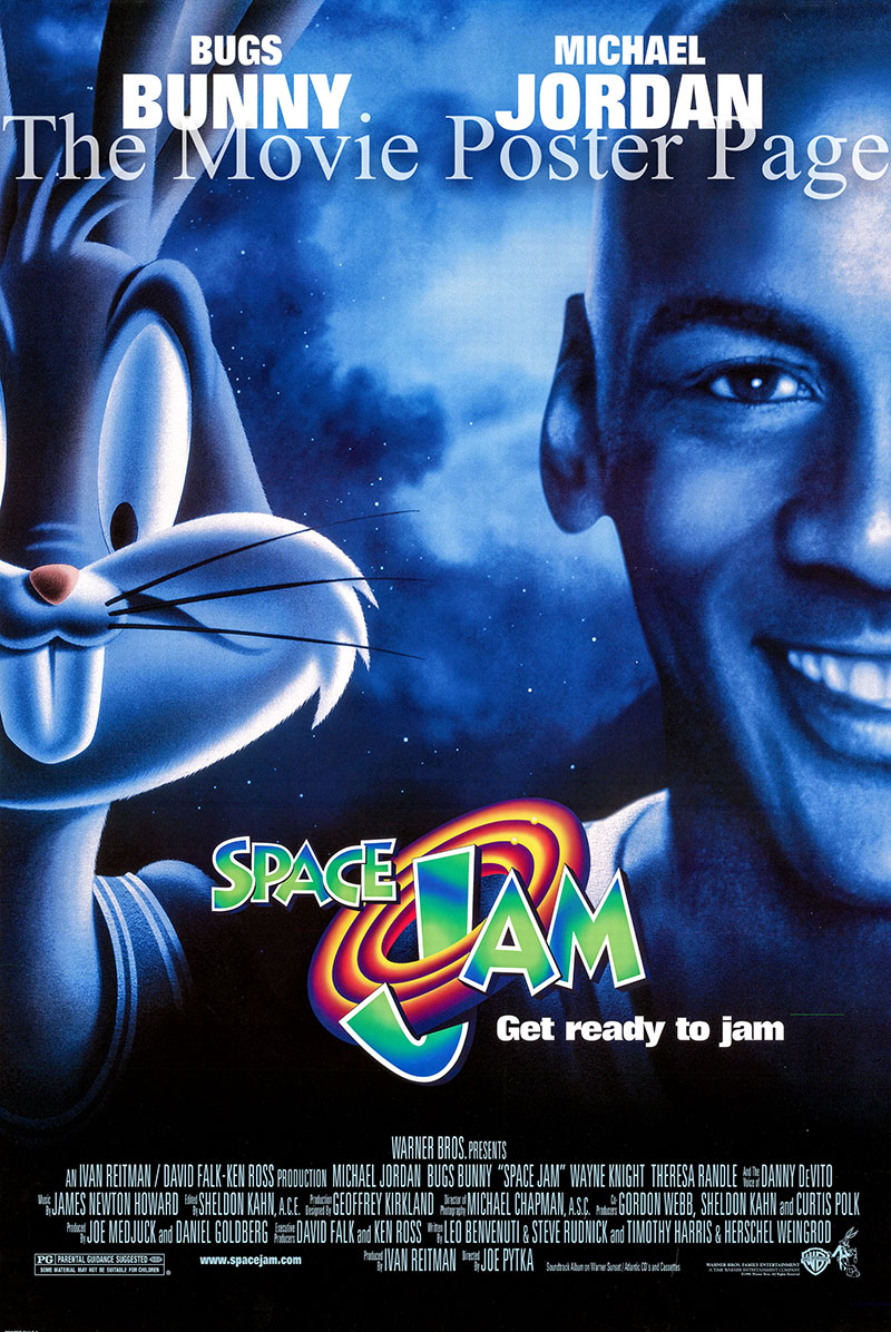 This is a US one-sheet poster for the 1996 Joe Pytka film Space Jam starring Michael Jordan as himself.