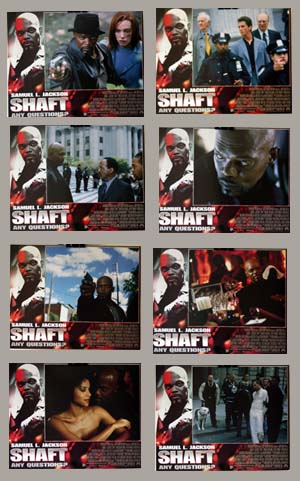 Pictured is a US lobby card set for the 2000 John Singleton film Shaft starring Samuel Jackson as John Shaft.