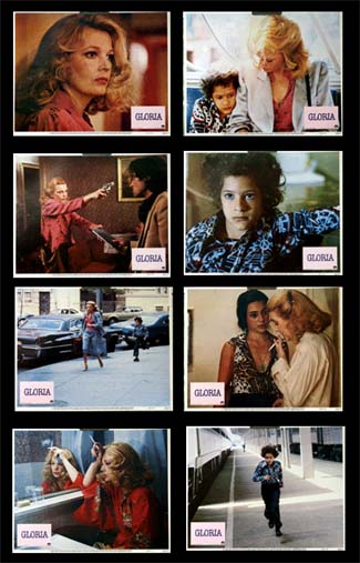 Pictured is a US promotional lobby card set for the 1980 John Cassavetes film Gloria starring Gena Rowlands.