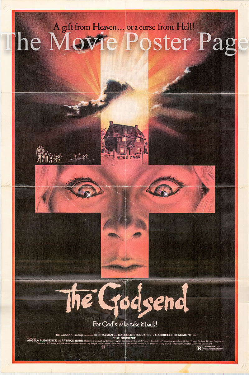 Pictured is a US one-sheet poster for the 1980 Gabrielle Beaumont film The Godsend starring Malcolm Stoddard as Alan Marlowe.
