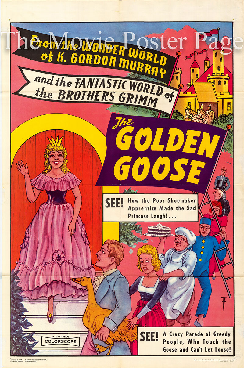 Pictured is a US one-sheet poster for the 1964 Siegfried Hartmann film The Golden Goose starring Kaspar Eichel as Klaus.