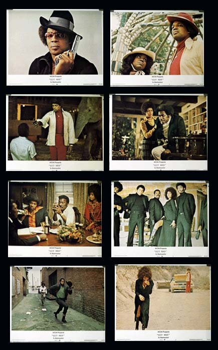 Pictured is a US promotional lobby card set for the 1973 George Armitage film Hit Man starring Bernie Casey.