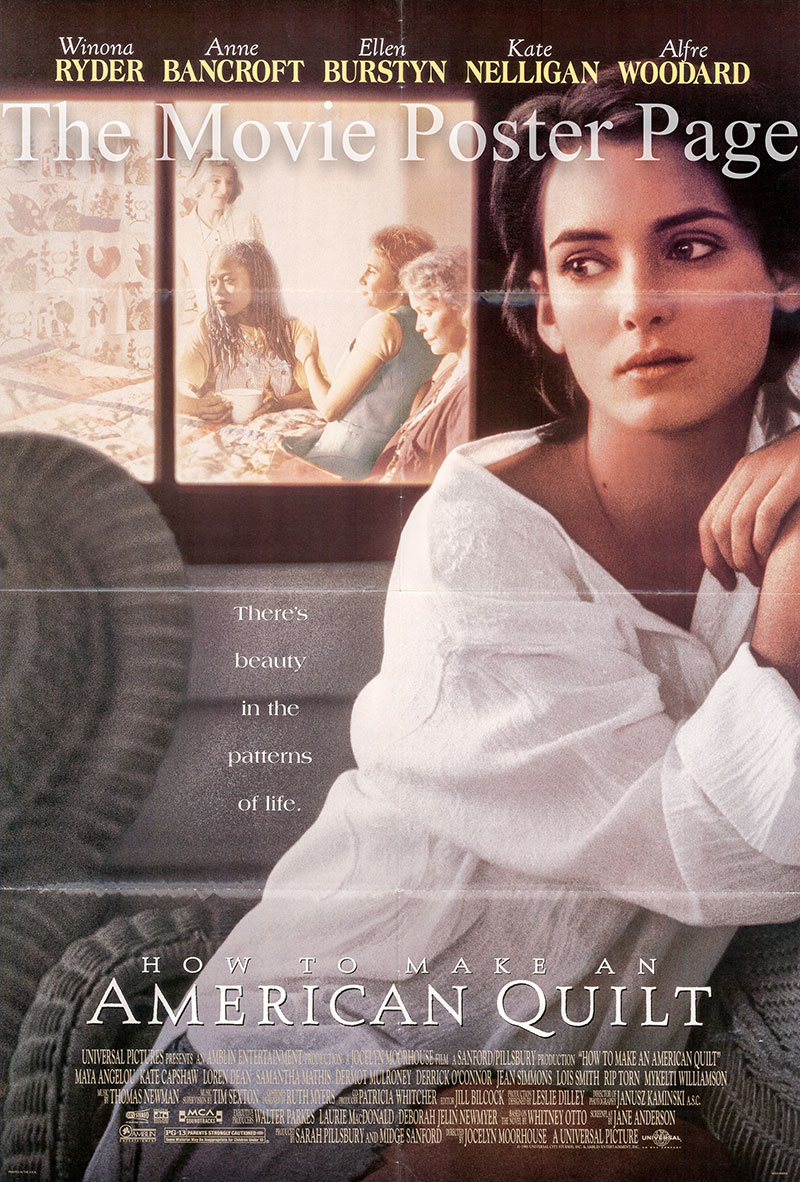 Pictured is a US promotional one-sheet for the 1995 Jocelyn Moorehouse film How to Make an American Quilt starring Winona Ryder.