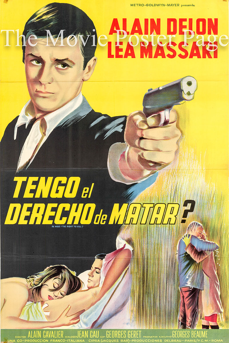 Pictured is a Spanish one-sheet poster for the 1964 Alain Cavalier film L'Insoumis starring Alain Delon as Thomas Vlassenroot.