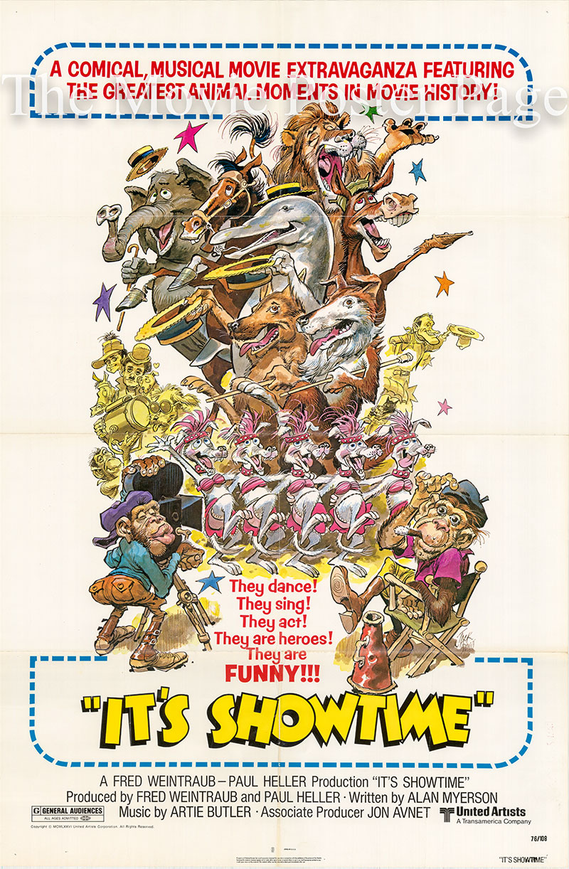 Pictured is a US one-sheet poster for the 1976 Fred Weintraub film It's Showtime.