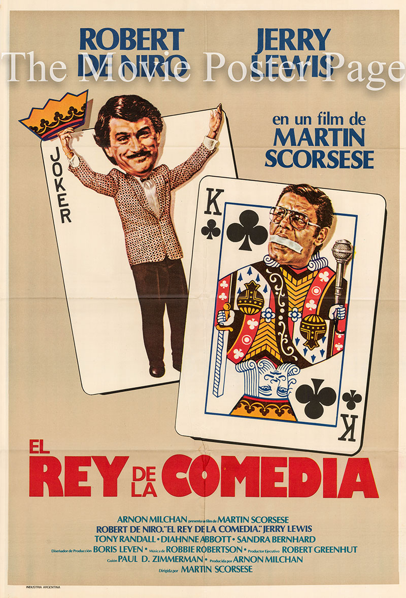Pictured is a US one-sheet poster for the 1983 Martin Scorcese film King of Comedy starring Robert De Niro.