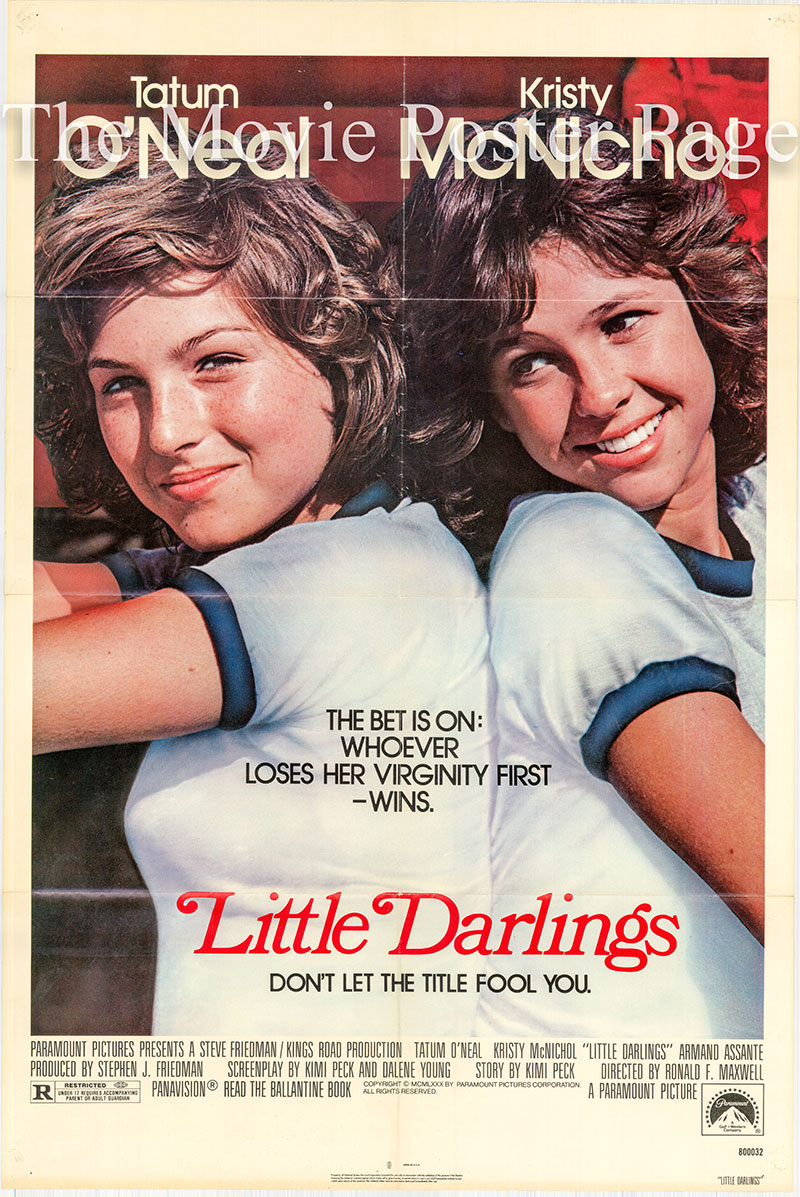 Pictured is a US one-sheet poster for the 1980 Ronald F. Maxwell film Little Darlings starring Tatum O'Nearl.