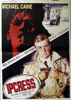 Pictured is an Italian reprint of a promotional poster for the 1961 Sidney J. Furie film The Ipcriss file, starring Michael Caine.