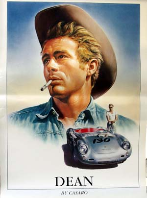 james dean casaro porsche poster italian r m 25. Black Bedroom Furniture Sets. Home Design Ideas