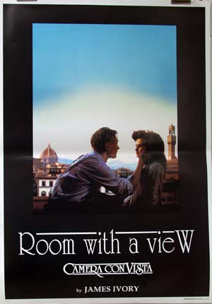 Pictured is an Italian reprint of a promotional poster for the 1985 James Ivory film Room with a View starring Maggie Smith.
