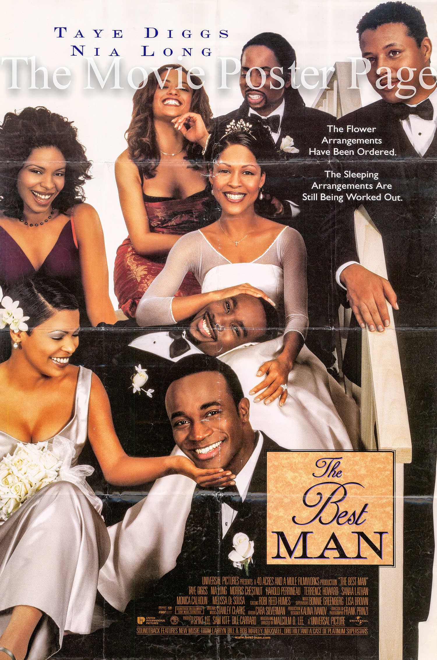 Pictured is a US one-sheet poster for the 1999 Malcolm D. Lee film The Best Man starring Taye Diggs.