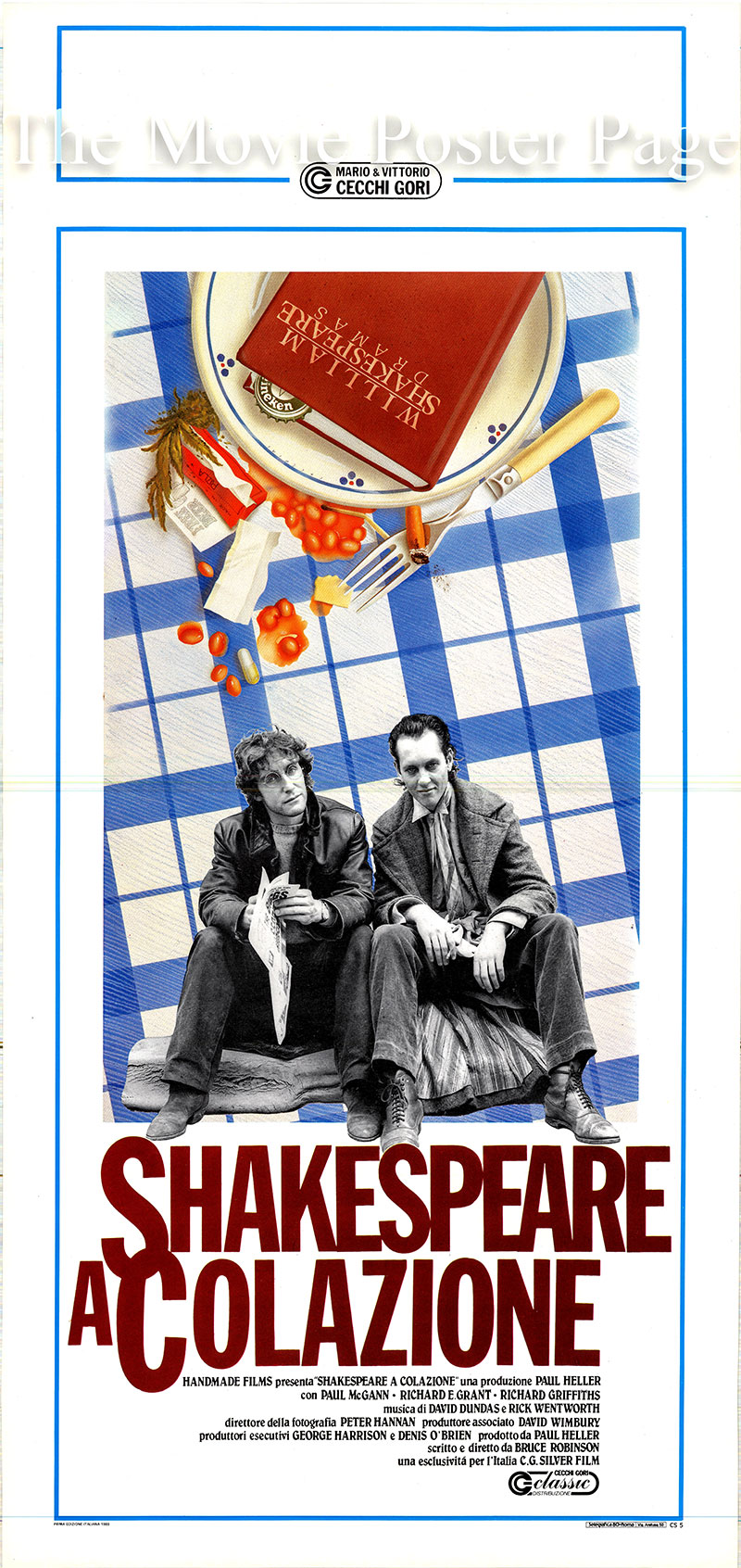 Pictured is an Italian locandina poster for the 1987 Bruce Robinson film Withnail and I starring Richard E. Grant as Withnail.