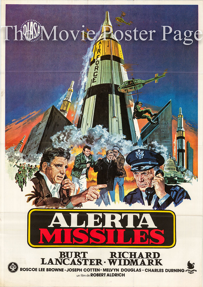 Pictured is a Spanish one-sheet poster for the 1977 Robert Aldrich film Twilight's Last Gleaming starring Burt Lancaster as General Lawrence Dell.