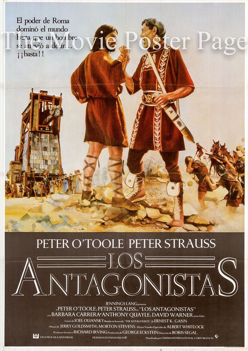 Pictured is a Spanish one-sheet poster for the 1981 Boris Sagal film Masada starring Peter O'Toole as General Cornelius Flavius Silva.